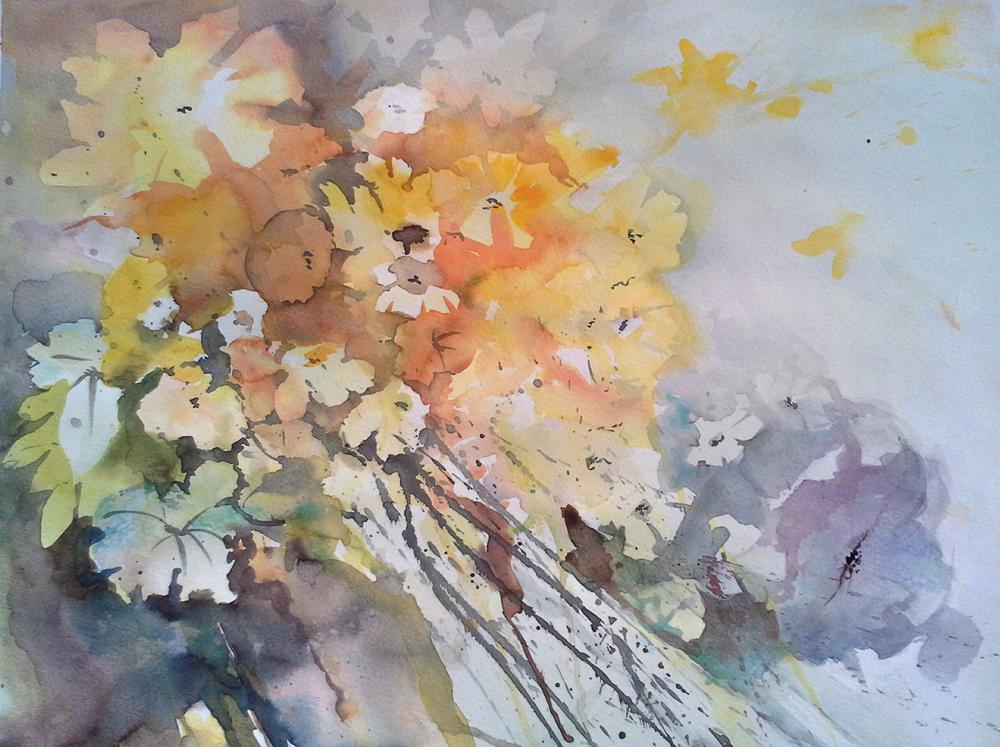 Aquarell, Blumen, Walter Lechthaler