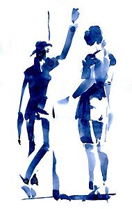 Schatten Licht - Aquarell Skizze - Walter Lechthaler